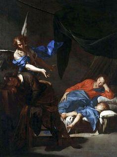 230. Cavallino, Bernardo - Il sogno di San Giuseppe - 1645 ca. - Varsavia, Muzeum Narodowe