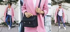 Stylizacja Aimee Song - Song of Style - pastelowy, różowy płaszcz
