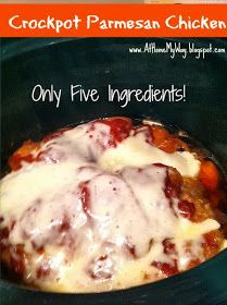 Peasy Parmesan Chicken in the Crockpot (Only 5 ingredients!) At Home My Way: Easy Peasy Parmesan Chicken in the Crockpot (Only 5 ingredients!)At Home My Way: Easy Peasy Parmesan Chicken in the Crockpot (Only 5 ingredients! Crock Pot Food, Crockpot Dishes, Crock Pot Slow Cooker, Slow Cooker Recipes, Cooking Recipes, 5 Ingredient Crockpot Recipes, Crock Pots, Crockpot Dinner Easy, Easy Healthy Crockpot Recipes