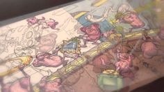 Magic: the Gathering Beebles playmat time-lapse drawing by Jeff Miracola