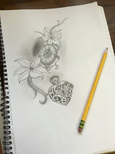 Adding to the pocket watch and lilies, heart shaped locket with keyhole