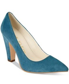 The Hollyn pumps by Anne Klein will take you anywhere with the perfect heel and a sophisticated pointed-toe silhouette. | Leather or suede upper; manmade sole | Imported | Fabric content and colors in