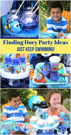 LAURA'S little PARTY: Finding Dory Party Idea. Finding Dory is now out in theaters! Have you seen it yet?! Celebrate with a fun 'Just Keep Swimming' party!