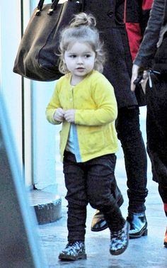 Victoria Beckham takes her kids Romeo and Harper shopping on March 3, 2014
