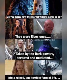 你知道漫威的反派是怎么来的吗?  他们都曾是精灵一族...  受到黑暗力量引诱 被折磨、残害...  然后成为不堪的生灵
