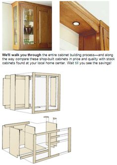 Plans Now :: Woodworking PDF Plans To Build Your Own Custom Kitchen Cabinets  .
