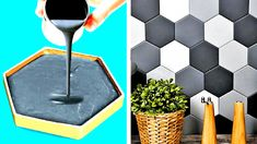 Diy Crafts For Home Decor, Diy Crafts Hacks, Diy Crafts For Gifts, Diy Arts And Crafts, Diy Projects, 5 Minute Crafts Videos, Diy Videos, Concrete Crafts, Diy Furniture