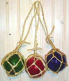 glass float ornaments from the beach house store