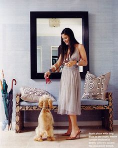 Stark - her old apartment featured in the now deceased Domino Magazine . Elegant Home Decor, Elegant Homes, Interior Inspiration, Design Inspiration, Entry Hallway, Entryway Bench, Entryway Decor, Unique House Design, Scandinavian Living