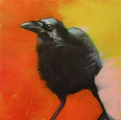 Lean into It - Rebecca Haines Crow Art, Raven Art, Bird Art, Crows Ravens, Animal Paintings, Spirit Animal, Pet Birds, Illustration Art, Canyon Road
