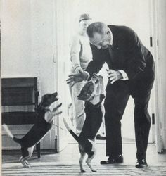 Lyndon B. Johnson: Beagles 'Him' and 'Her' (Photo: White House.Source:Presidential Pet Museum,The White House)  via @AOL_Lifestyle Read more: http://www.aol.com/article/news/2017/01/12/mike-pence-debuts-new-family-pet-and-it-has-the-best-name-eve/21653935/?a_dgi=aolshare_pinterest#fullscreen