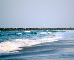 Bird Island at NC/SC state line looking at East jetty of Little River Inlet.