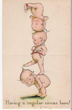 Kewpie tower postcard, after Rose O'Neill