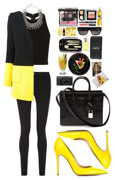"""""""Cry Baby"""" by vanessasimao1999 ❤ liked on Polyvore featuring Bobbi Brown Cosmetics, Alice + Olivia, Frame Denim, DANNIJO, David Koma, Gianvito Rossi, Yves Saint Laurent, Estée Lauder, Phyto and Givenchy"""