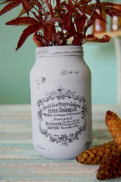 Sivá Vintage sklenená dekorácia váza