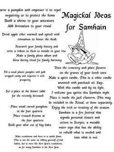 Samhain- the Witches New Year:)