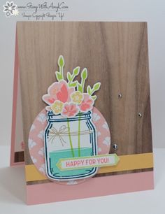 Stampin' Up! Jar of Love Happy For You for the Happy Inkin' Thursday Blog Hop – Stamp With Amy K