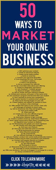 market your online business: 50 marketing tips and ideas to successfully make money as an online entrepreneur.to market your online business: 50 marketing tips and ideas to successfully make money as an online entrepreneur. Inbound Marketing, Affiliate Marketing, Marketing Website, Marketing Services, Marketing Online, Digital Marketing Strategy, Content Marketing, Internet Marketing, Social Media Marketing