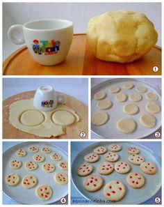 ideia para cortar biscoito Quero fazer biscoito, mas não tenho cortador, como faço?
