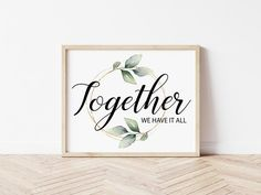 Together PRINTABLE Wall Art Farmhouse Decor Home Decor | Etsy Printing Services, Online Printing, Create Collage, Home Printers, Photo Center, International Paper Sizes, As You Like, Printable Wall Art, Farmhouse Decor