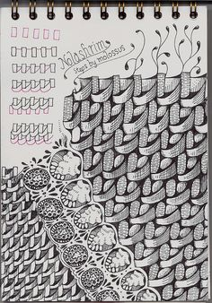 Nolashrim~zentangle.  It is best to do this pattern row by row, just as if you were really weaving. Otherwise, step 4 and step 5 will bump into one another.