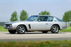 Jensen Interceptor coupe, year Colour silver metallic with a black leather interior and black carpet. This fantastic Jensen Interceptor is in very good to excellent … Jensen Interceptor, Travel Through Europe, British Sports Cars, Black Carpet, Alloy Wheel, Cars For Sale, Classic Cars, Vehicles, Motorcycles