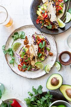oh I love all kinds of tacos. Tempeh Tacos via Real Food by Dad Tofu Recipes, Dairy Free Recipes, Mexican Food Recipes, Whole Food Recipes, Vegetarian Recipes, Healthy Recipes, Ethnic Recipes, Gluten Free, Gastronomia