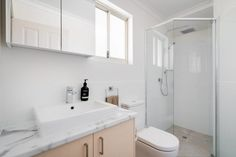 Modus Property 353 Sevenoaks St, Cannington WA 6107 1300-136-384 Bathroom Renovations Perth, Large Shower, Big Windows, Cabinet Makers, Double Vanity, Tub, Layout, Design, Bathtubs