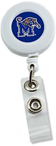 Aminco Retractable Badge Reel - Memphis Tigers  http://allstarsportsfan.com/product/aminco-retractable-badge-reel/?attribute_pa_teamname=memphis-tigers  Measures Approximately 3.25-inches in Length Features Printed Team Colored Logo Includes 24-inch Heavy-Duty Retractable Nylon Cord