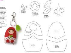 Matryoshka (Babushka) Felt Keychain Charm - FREE Sewing Pattern / Template