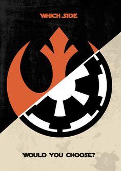 Which side would you choose? | Via: Star Wars Daily | #starwars Stormtrooper, Darth Vader, Theme Star Wars, Star Wars Party, Poster Retro, Star Wars Personajes, Starwars, Star Wars Tattoo, Rebel Alliance