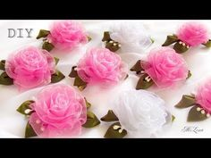 DIY chiffon rose,fabric rose tutorial,how to make - YouTube