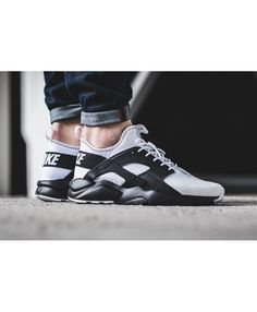 Nike Air Huarache Palette Of White And Black Trainer