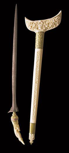 Traditional dagger from Bangkinang,  West Sumatra