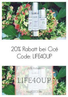 20% Rabatt bei Cicé Safer Skin Care nur noch bis 21.Oktober 2016. Code: LIFE40UP