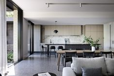 Winton House by Molecule Studio – Project Feature – The Local Project Sunrise Home, Triangle House, Front Rooms, Open Plan Kitchen, Kitchen Ideas, Boat Design, Brickwork, New Room, Victorian Homes