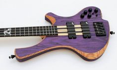 O3 Guitars Rhodium Purplehaze Bass