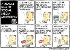 The 7 deadly sins of Social Marketing via This Week In Digital - October 2014 Social Marketing, Inbound Marketing, Content Marketing, Internet Marketing, Online Marketing, Digital Marketing, Anti Facebook, Club Mexico, New Social Network
