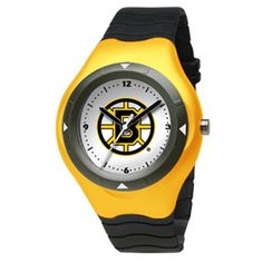Show your team colors with the LogoArt Prospect Big Kid Watch. This is a youth size water resistant watch. The watch case is 1 5/8 inches wide. The dial diameter is 1 inch. The watch case is made of ABS plastic resin with a stainless steel screw back. The coordinating colorful strap is made from polyurethane rubber with a stainless steel buckle. Acrylic crystal face. Team logo is shown boldly in the center of the watch.
