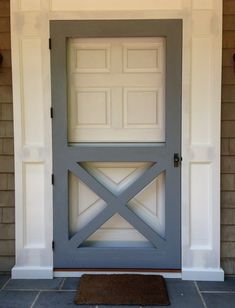 Image result for Old fashioned screen door with plexiglass insert