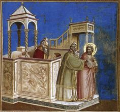 Giotto, Arena chapel, No. 1 Scenes from the Life of Joachim: 1. Rejection of Joachim's Sacrifice, c.1304.