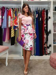 FALDA PEPLUM CLARÍN Mode Outfits, Chic Outfits, Havana Nights Dress, Daily Look, Mother Of The Bride, Tango, Lady, Womens Fashion, Casual
