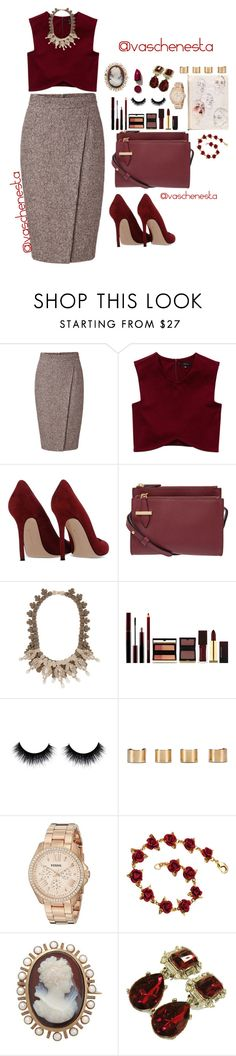 """""""Untitled #797"""" by loo0oove-16 ❤ liked on Polyvore featuring ESCADA, Talula, Gianvito Rossi, Lodis, Ek Thongprasert, Kevyn Aucoin, Maison Margiela, FOSSIL, NARS Cosmetics and women's clothing"""