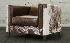 COCOCO HOME ARDEN LEATHER AND HAIR ON HIDE CHAIR.  COCOCOHOME.COM