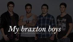 Nic Westaway (aka. Kyle Braxton), Dan Ewing (aka. Heath Braxton), Steve Peacocke (aka. Daryl Braxton) and Lincoln Younes (aka. Casey Braxton).