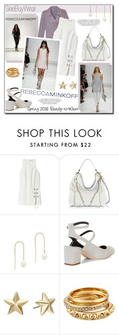 """""""Rebecca Mincoff Spring 2016 Ready-to-Wear"""" by helenevlacho ❤ liked on Polyvore featuring Rebecca Minkoff, women's clothing, women, female, woman, misses and juniors"""