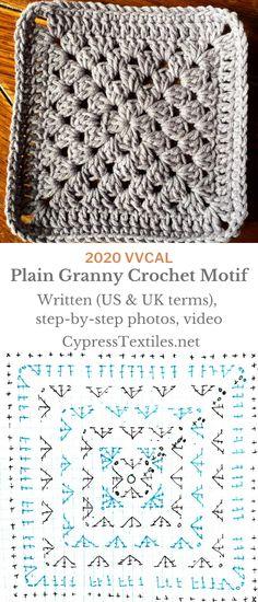 Baby Afghan Crochet, Manta Crochet, Granny Square Crochet Pattern, Crochet Squares, Crochet Granny, Crochet Motif, Crochet Stitches, Free Crochet, Granny Squares