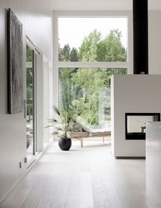 Wc Design, House Design, Living Room Designs, Living Spaces, Scandinavian Style Home, Lets Stay Home, White Oak Floors, House Windows, Home Staging