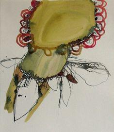 organic works on paper by Elizabeth Terhune at Standpipe Gallery.