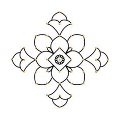 Image result for kolam with dots for beginners